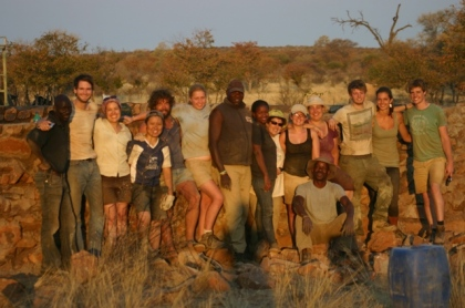 Volunteer group in Namibia