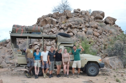 EHRA Volunteer group at the end of elephant tracking