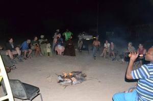 EHRA volunteers with locals