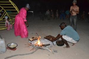 Volunteers having a braai with the volunteers