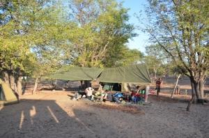 Volunteers camp