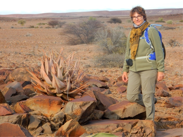 EHRA volunteer trekking through Damaraland