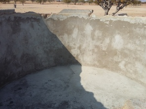 The team fixed a wall, tank, pipes, a troughs and a dam.